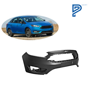 New Primed Front Bumper Cover For 2015 2018 Ford Focus S se sel