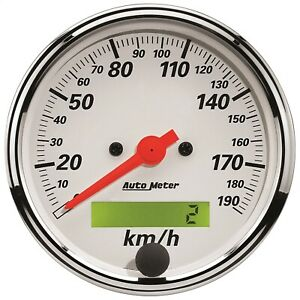 Autometer 1388 m Arctic White Electric Programmable Speedometer