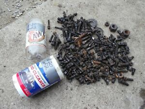 Mccormick Deering Farmall 1020 Tractor Box Of Nuts Bolts Pieces