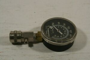 Vintage Compression Tester 0 300 Gauge Dial With Adaptor