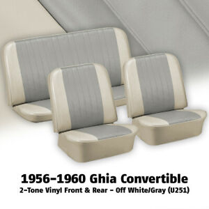 1958 1960 Vw Ghia Convertible Off White And Gray Seat Cover Set 383192u251