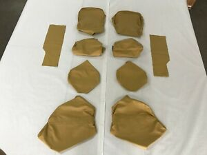 Porsche 928 1977 1984 Rear Seat Covers Champagne Leather