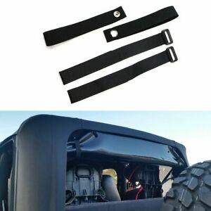 Durable Tie Down Straps Soft Top Straps For 2007 2018 Jeep Wrangler Jk 4 Pack