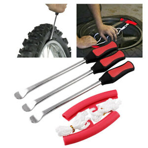 3pcs Auto Repair Tool For Motorcycle Tire Spoon Lever Iron Fix Change Kit Bag
