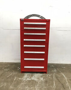 Stanley Vidmar 8 drawer Red Industrial Tool Cabinet