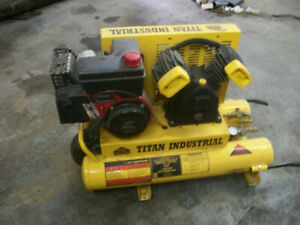 Air Compressor tact 2t titan Industrial 6 Hp new yellow 100 Psi shipping Extra
