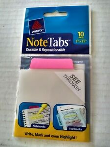 Avery Note Tabs Pink Dividers 10 Count Model 16342 3 X 3 1 2 Repositionable
