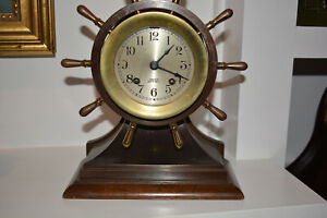 Chelsea Ships Wheel Ships Bell Clock 100 Original Estate Fresh Working Perfect