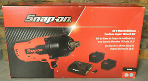 Brand New Snap On 18v Monster Lithium Cordless 3 4 Impact Wrench Kit Ct9100
