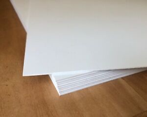 100 Sheets 12 X 12 X 1mm Sintra Pvc White Plastic Closed cell Board