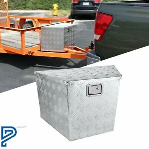 Truck Pickup Aluminum Underbody Tongue Tool Box Trailer Storage W Lock 29 X 15