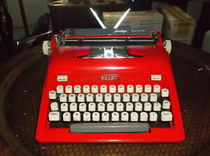 Antique 1950s Royal Red Manual Portable Typewriter
