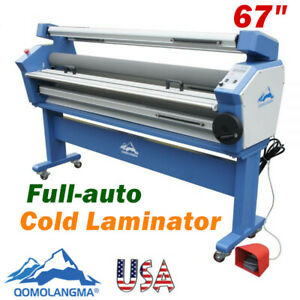 Qomolangma 67in Full auto Wide Format Cold Laminator With Heat Assisted