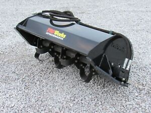 Used Cat Ba18 84 Angle Broom Sweeper Attachment Fits Skid Steer Loader