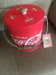 Coca Cola Coke Ice Bucket with Lid New with Tags