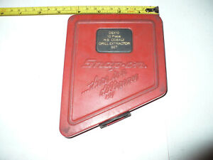 Vintage Snap On Dex10 Drill Extractor Metal Box Only