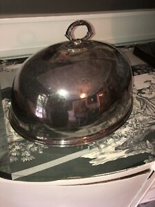 Antique Silver Plate Meat Dome Cloche Mappin Webb Victorian Large 14 Laurel