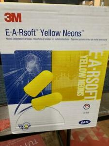 3m E a Rsoft Yellow Neons Ear Plugs 200 Pairs 311 4106 Metal Detectable New