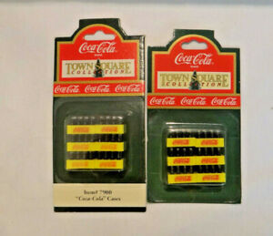 1992 Coca-Cola Miniature Cases Town Square Collection Lot of 2