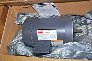New Dayton 1 Hp Electric Motor 56c Frame 208 230 460 Vac 1725 1425 Rpm 3n087h