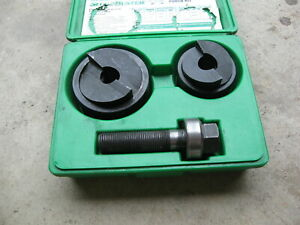Greenlee 7237bb 1 1 2 And 2 Conduit Slug buster Knockout Punch Kit