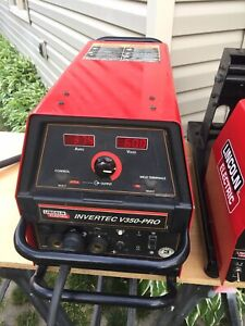 Lincoln Electric Invertec Welder V350 pro Lf 72 Wire Feed Feeder Combo