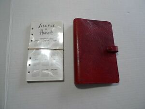 Filofax For Harrods Leather Planner Made In England Vintage Winchester