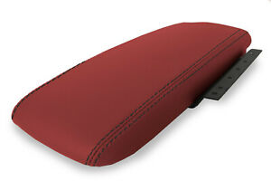 Fits 03 11 Ford Crown Victoria Pvc Console Armrest Cover Red Black Stitch