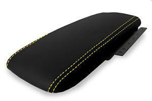Fits 03 11 Ford Crown Victoria Mercury Pvc Console Armrest Cover Yellow Stitch