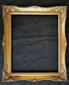 16 X 13 Picture Frame Painting Frame Ornate Gold Finish Wood