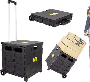 Dbest Products Quik Cart Pro Wheeled Rolling Crate Teacher Utility With Seat Hea