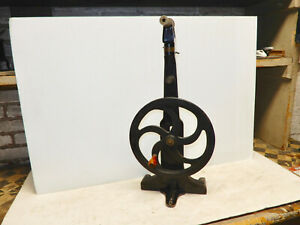 Antique Central Scientific Co Hand Crank Pulley Wheel Medical Apparatus