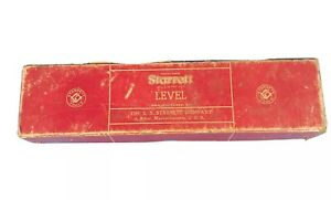 Starrett Level 98 12 Red Box Vintage No 98 Machinest Cnc Surveying Engineering