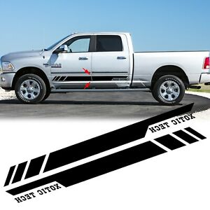 For Dodge Ram 1500 2500 3500 2010 17 Black Vinyl Sticker Side Door Stripe Decal
