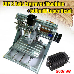 12v 3 Axis Cnc Router Machine 500mw Laser Engraving Pcb Milling Wood