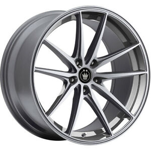 4 New 19x9 5 Konig 37o Oversteer Silver Wheels Rims 40 5x4 50