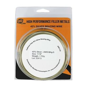 S a Silver Brazing Solder Wire 45 Aws Bag 5 Size 1 16 1 3 Or 5 Toz