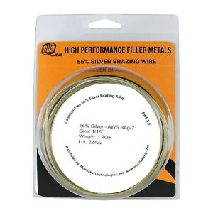 S a Silver Brazing Solder Wire 56 Aws Bag 7 Size 1 16 1 3 Or 5 Toz