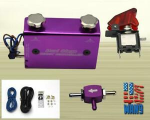 New 2 0 Dual Stage Turbo Boost Controller Electronic Manual Rocket Switch Purple