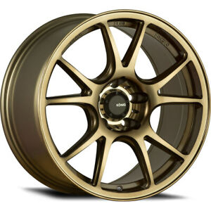 19x9 5 Konig 100bz Freeform Wheels Rims 25 5x114 3 Qty 2