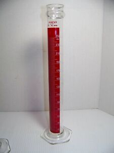 Pyrex Lifetime Red 250ml Cylinder No 3046