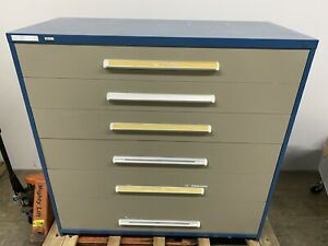 Stanley Vidmar Cabinet 6 Drawer Dividers 5ft Wide X 59 Height X 27 1 2 Depth