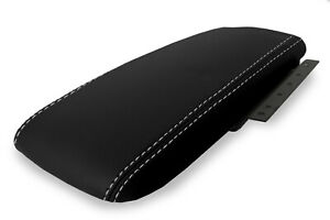Fits 03 11 Ford Crown Victoria Mercury Pvc Console Lid Armrest Cover Gray Stitch