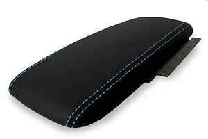 Fits 03 11 Ford Crown Victoria Mercury Pvc Console Lid Armrest Cover Blue Stitch