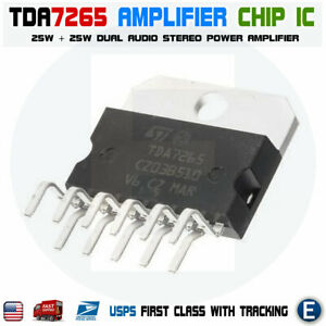 Tda7265 25 25w Dual Stereo Audio Power Amplifier Chip Ic Tda 7265 St