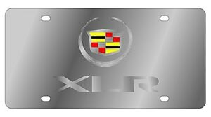 New Cadillac Mirrored Xlr Logo Stainless Steel License Plate