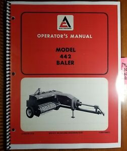 Allis chalmers 442 Baler Owner s Operator s Manual 566875