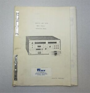 Tesec Corp Semiconductor Equipment 8102 lv Inductive Load Tester Manual