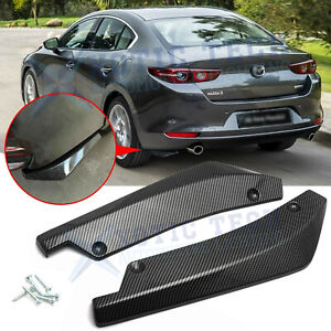 For Mazda 3 6 Mx 5 Miata Carbon Fiber Rear Bumper Splitter Diffuser Canards Jdm