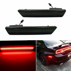 Smoked Red 36 Led Rear Side Marker Lamp For 08 14 Dodge Challenger 11 14 Charger